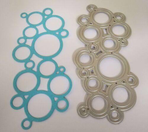 Mixed Media//Texture BNIP /& Free P/&P Bubbles//Circles Metal Panel Die