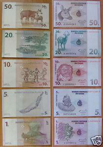 Congo-Banknotes-Set-of-5-Pieces-UNC