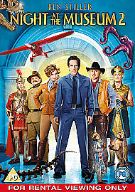 1 of 1 - BRAND NEW  NIGHT AT THE MUSEUM 2 DVD  REGION 2 PAL DVD RATED PG  ALL STAR CAST