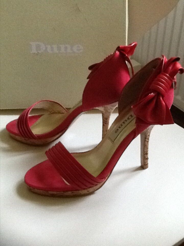 Dune rot heeles two part heeles rot sandal with bow 36 6d29f0