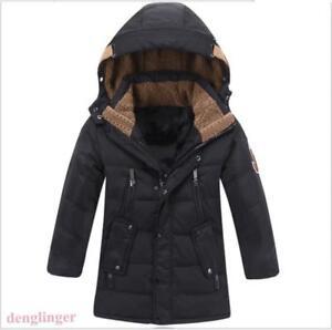 Boys-Size-Hooded-Coat-Duck-Down-Coat-Jacket-Long-Parka-Warm-Winter-Outwear-New
