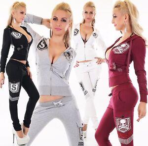 Femmes-Survetement-Sport-Jogging-Fitness-Veste-et-Pantalon-de