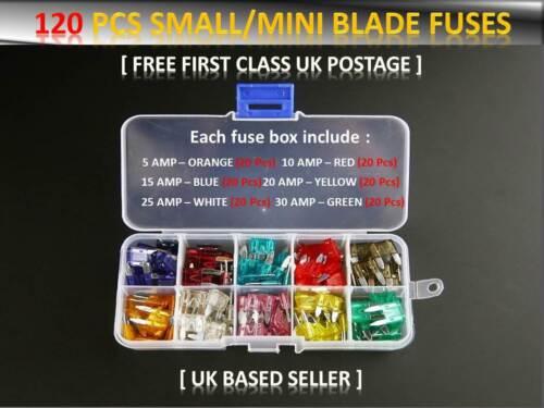 120PCS FORD CAR//VAN VEHICLE SMALL BLADE FUSES BOX *5 10 15 20 25 30 AMP*