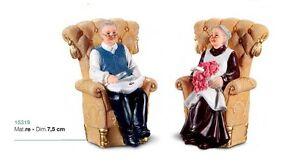 Nonno In Poltrona.Dettagli Su Sopratorta Nonno Nonna In Poltrona Cake Design Pasticceria Festa Compleanno