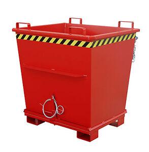 Klappbodenbehälter Staplerbehälter Klappbodencontainer konisch 1,00m³ Rot - Lüneburg, Deutschland - Klappbodenbehälter Staplerbehälter Klappbodencontainer konisch 1,00m³ Rot - Lüneburg, Deutschland