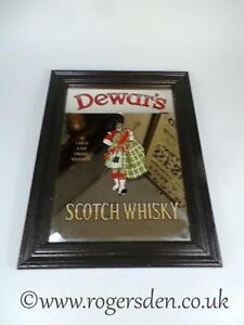 Dewar-039-s-Scotch-Whisky-Vintage-Pub-Mirror-C1960-039-s
