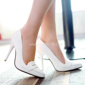 Heels-Damen-Fashion-Schuhe-Spitz-Zehe-High-Heels-Halbschuhe-Party-Gr33-48-Loafer