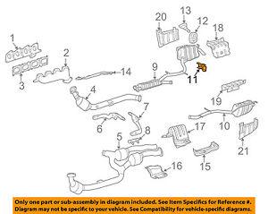 mercedes oem 04 06 e55 amg 5 5l exhaust muffler & pipe front bracket 2005 malibu exhaust system diagram image is loading mercedes oem 04 06 e55 amg 5 5l