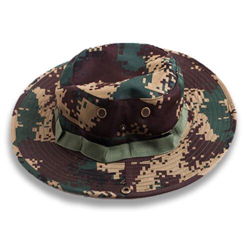 Bucket Hat Boonie Hunting Fishing Outdoor Cap Military Unisex Sun Camo Fashion