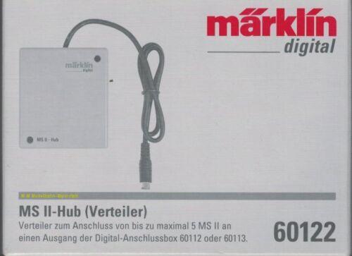 60653,60657 distributeur neuf ** pour jusqu/'à 5 MS-II ** MARKLIN 60122 MS II-Hub