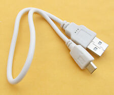 1pc x White 30cm Micro USB PC Power Charge Cable for Mobile Cell Phone Universal