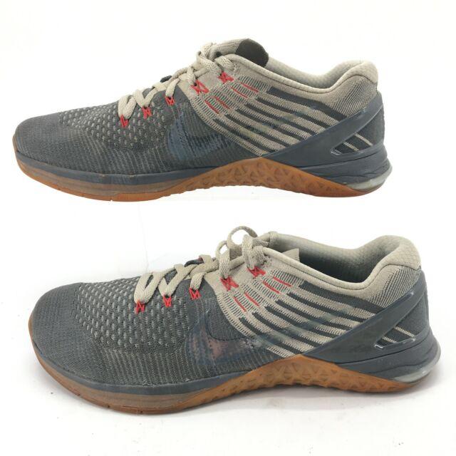 Nike Mens 12 Metcon DSX Flyknit Running Sneakers Grey Mesh Low Top 852930-012