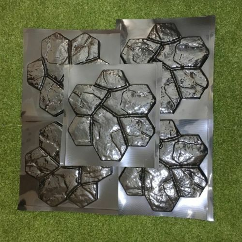 *Stone Flower* Set 5 pcs ABS Molds for Concrete Garden Stepping Stone Path