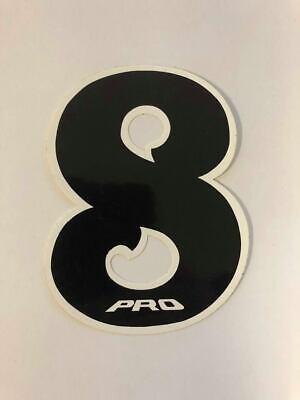 NOS PRO BMX Motocross number plate number 6 Black//Blue vintage oldschool