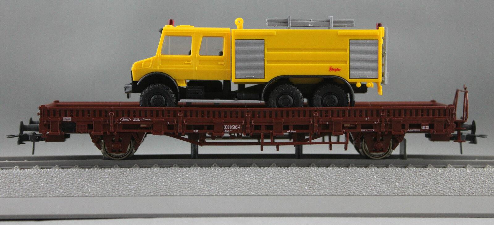 Roco HO - DB Stake Wagon with Unimog load, 50 Year Limited Edition - 47179