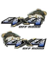 Bass Fishing Decal - 4x4 Truck Sticker for Silverado Sierra Trucks