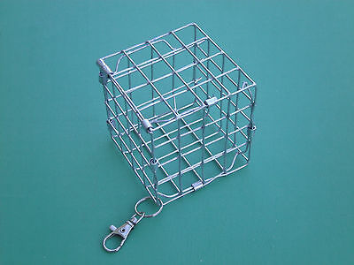 Small Hay Cube Cage Feeder with Hook Rack/Toy  for Chinchilla,Guinea Pig,Degu
