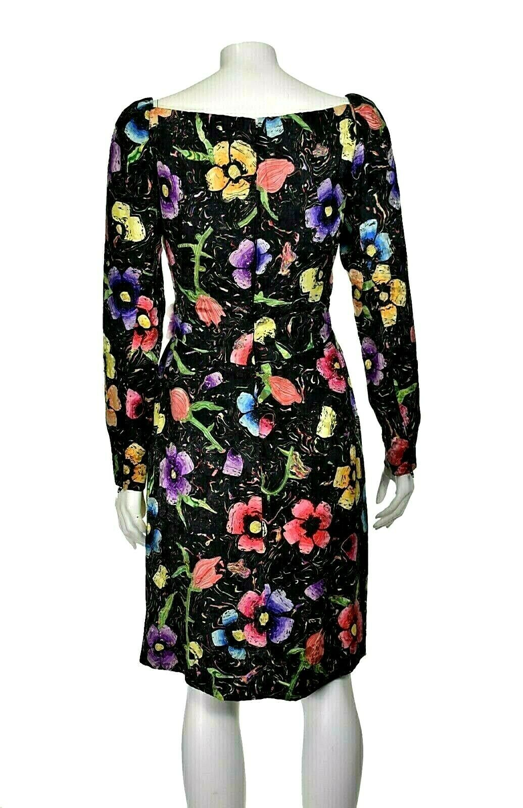 ARNOLD SCAASI Vintage Silk Floral Cocktail Party … - image 6