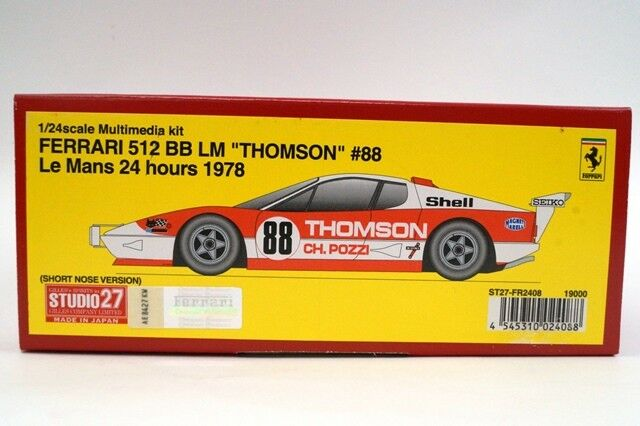 Fr2408 Fr2408 Fr2408 Studio 27  1  24 Ferrari 512 bb LM Thomson 35, 88, lemans 24h 1978 92f