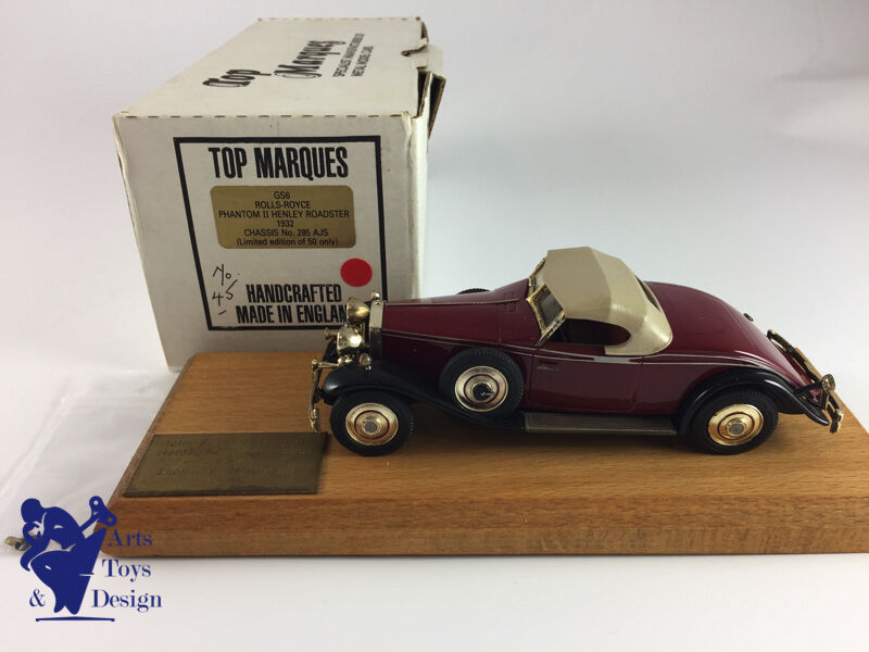 1 43 TOP MARQUES ROLLS ROYCE PH II HENLEY ROADSTER 1932 CHASSIS 285AJS N°45 50