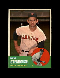 1963-Topps-Baseball-263-Dave-Stenhouse-Senators-NM