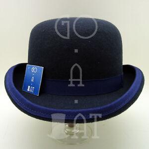 12fe9a8e709a2 VINTAGE Wool Felt Dura Bowler Derby Top Hat Men Women Round Crown ...