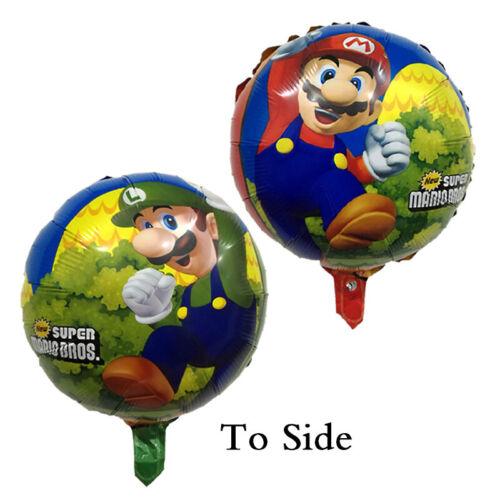 Super Mario Geburtstag Party Dekorationen Geschirr Ballon Banner Tischdecke Set