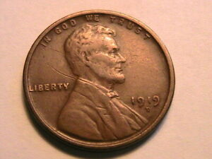 1919-D-USA-Lincoln-Wheat-Cent-Brown-VF-Nice-Original-One-Penny-Bronze-Coin