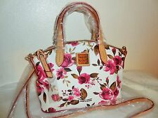NWT DOONEY & BOURKE White Pink Cabbage Rose MINI Satchel Crossbody SMALL Bag