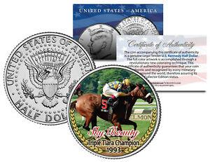 SKY-BEAUTY-Triple-Tiara-Champion-1993-Racehorse-JFK-Half-Dollar-U-S-Coin