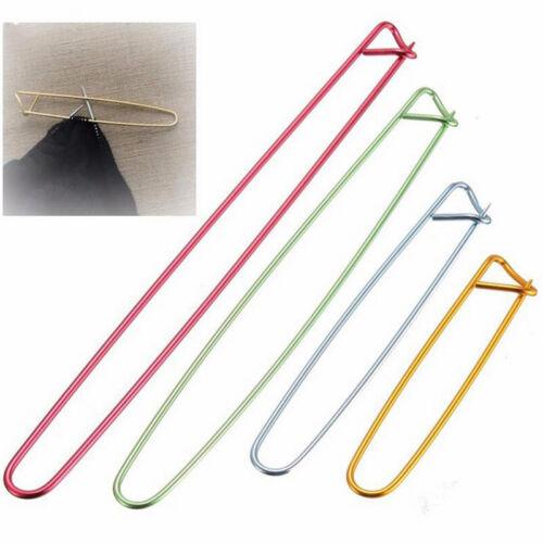 4Sizes Aluminum Stitch Holders Pins Yarn Knit Knitting Needles Crochet Hooks Lot