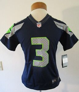 reputable site db036 0c147 Details about NWT Nike Russell Wilson Seattle Seahawks #3 Youth Limited  Jersey S Navy MSRP$100