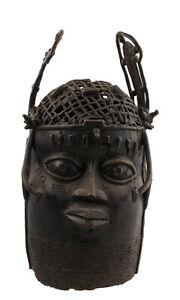 Testa-Ife-Commemorativa-Oba-Bronzo-Africano-Benigno-Nigeria-Bini-Edo-1221