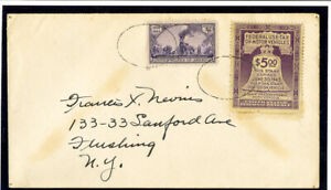 US-1944-Motor-Vehicle-923-Stamp-tied-to-Cover-Very-Rare