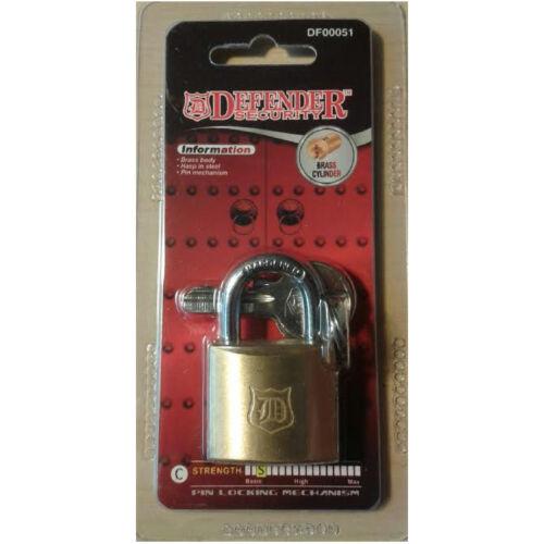 30mm Brass Body,Steel Hasp Padlock-3 x Keys-Shed,Door Security Lock Protection