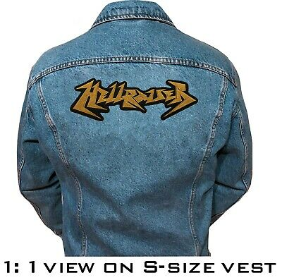 Hellraiser band embroidered big back patch 28 x 9.6 cm