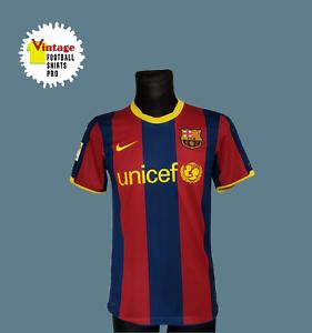 Barcelona Home Football Shirt 2010 - 2011 Jersey Nike Size S