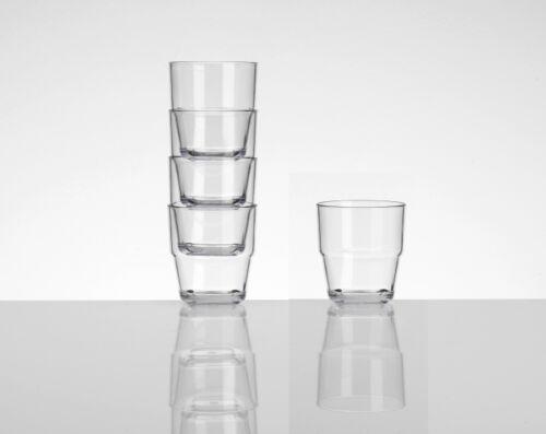 4 Camping Picknick Party Acryl Gläser Tumbler Wasser Glas Kunststoff Set klar