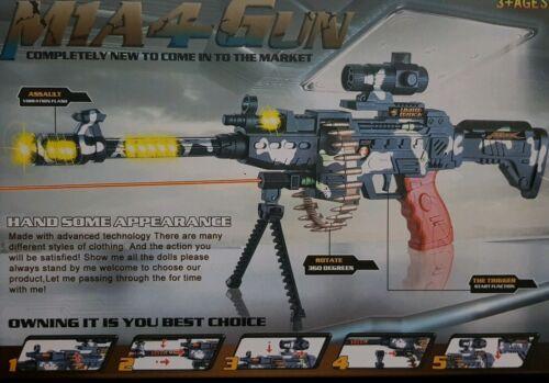 MITRA PISTOLA FUCILE MG-42 Pistola Militare Rotazione Proiettili vibrazione D/'ASSALTO giocattolo