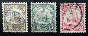 Deutsche Colonie-Africa Orientale Mer, 30-32 PUNZONATO