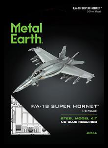 FASCINATIONS METAL EARTH F/A-18 Block III Super Hornet Aereo Kit Modello 3D