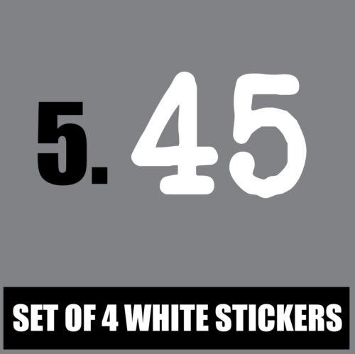 Set de 4 blanc wheelie gris bac vert autocollants en vinyle maison numéro S7