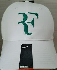 Nike RF Roger Federer Hybrid Tennis Hat Cap Dri-Fit  371202 White Lucid Green