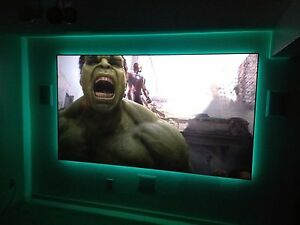 """ProScreens 110/"""" WHITE 58/"""" x 100/"""" movie PROJECTOR projection SCREEN MATERIAL"""