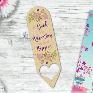 Image Is Loading Adventure Wooden Bookmark Gift For A Mum Daughter