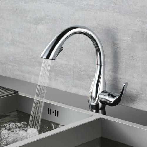 360° Küchenarmatur Ausziehbar 2 Strahlarten Wasserhahn Spültischarmatur Einhebel