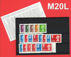 2020-M20L-SECURITY-MACHIN-CODE-VARIATIONS-SET-of-19v
