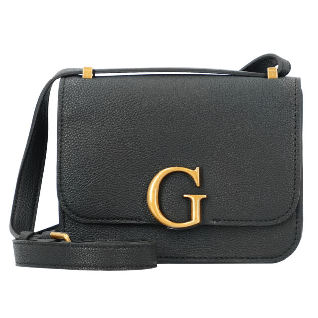 Guess Corily Umhängetasche 18,5cm modisch Damen crossbag schön (black)