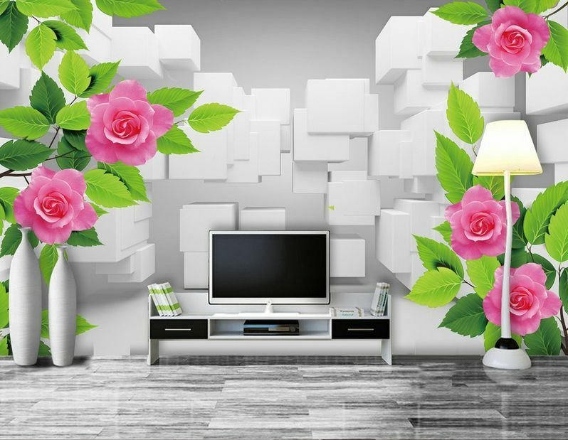 3D Flower leaves 753 Paper Wall Print Decal Wall Wall Murals AJ WALLPAPER GB