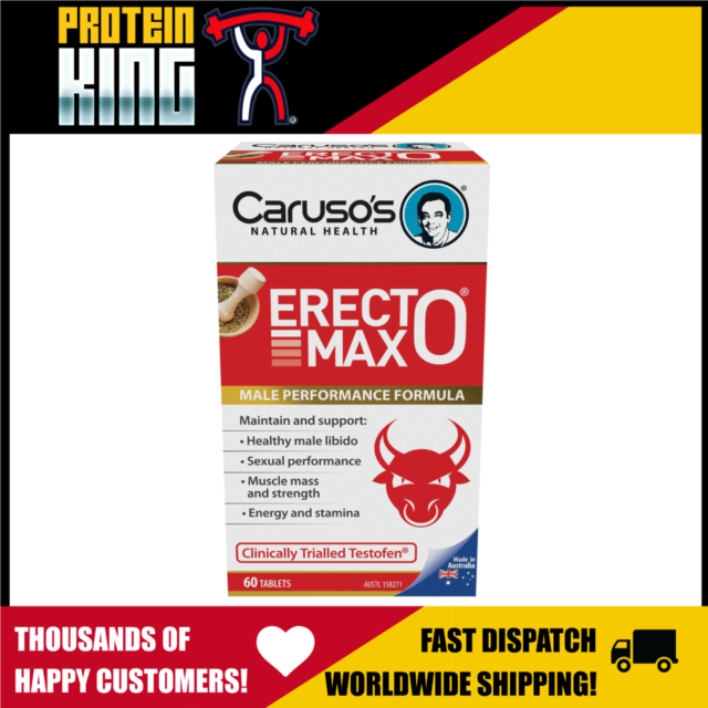 CARUSOS ERECTOMAX 60 TABS MALE PERFORMANCE HEALTHY LIBIDO ENERGY MUSCLE MASS